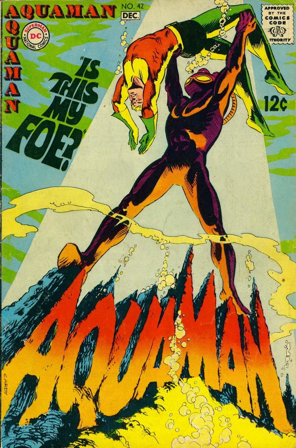 Aquaman (1962) #42, cover by Nick Cardy.