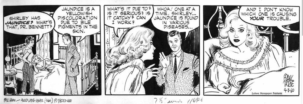 Dr. Guy Bennett  daily strip from 4-8-60, art by Frank Thorne.