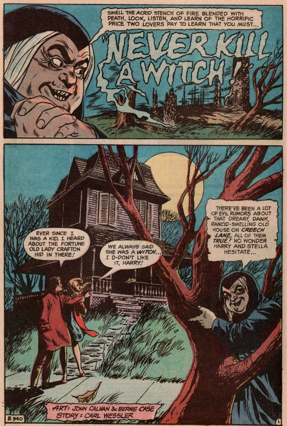 Witching Hour (1969) #16 pg2, penciled by John Calnan & inked by Bernie Case.
