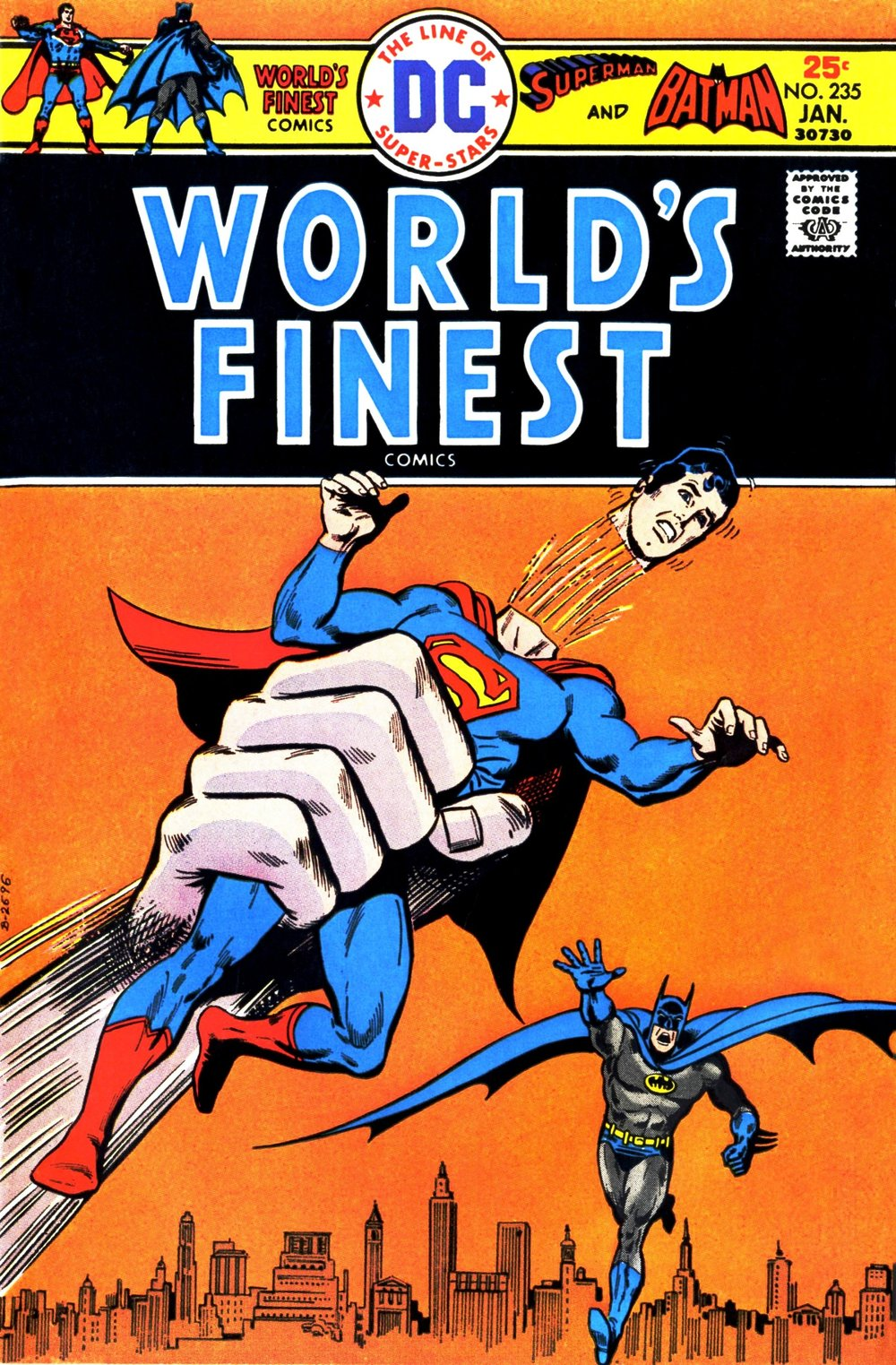 World's Finest Comics (1941) #235, cover penciled by Ernie Chan & inked by John Calnan.
