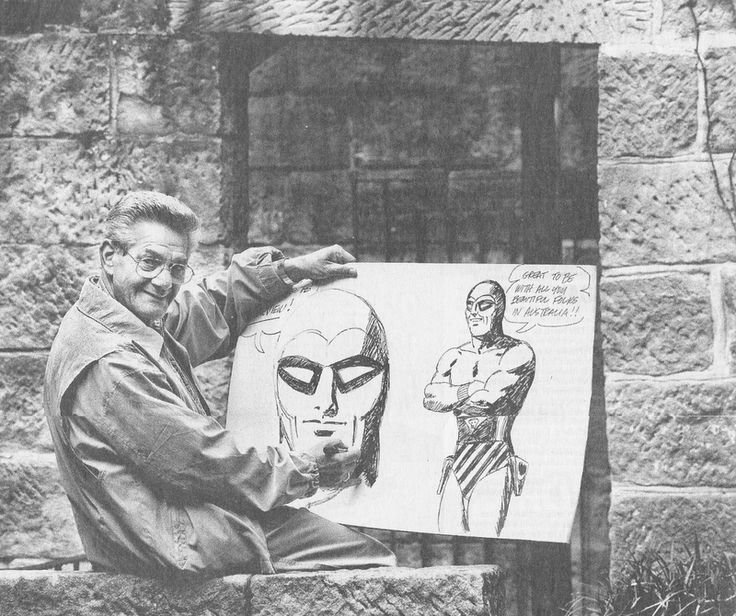 Sy Barry  with a  Phantom  illustration in Australia.