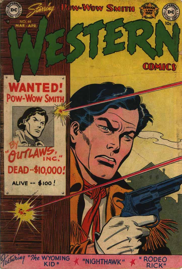 Western Comics (1948) #44, cover penciled by Carmine Infantino & inked by Sy Barry.