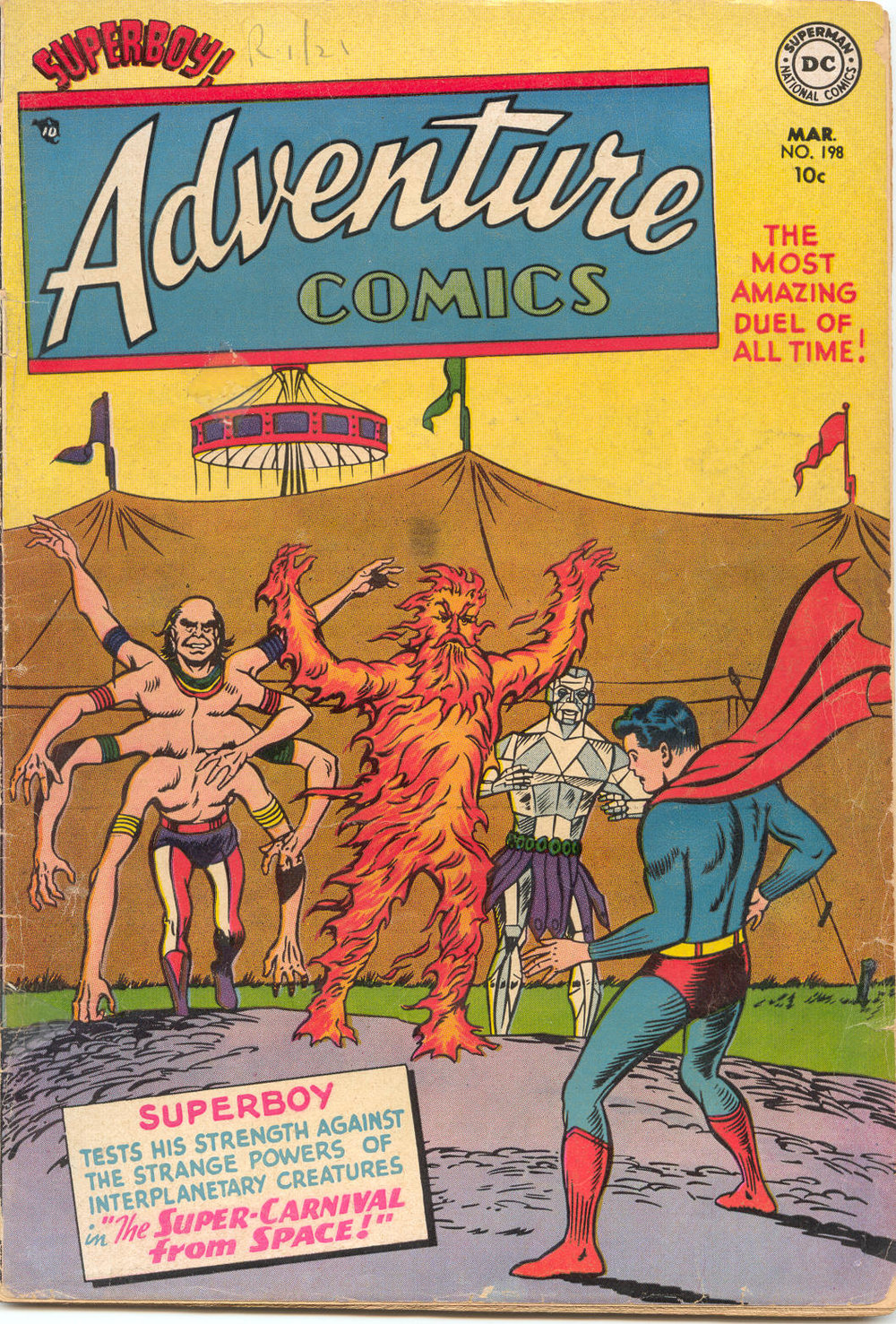Adventure Comics (1938) #198, cover penciled by Curt Swan & inked by Sy Barry.