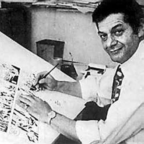 Sy Barry working on a strip, circa 1970.