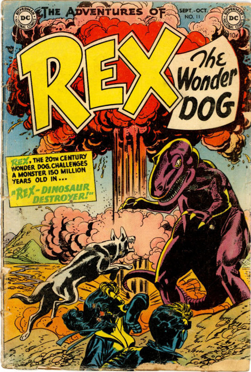 The Adventures of Rex the Wonder Dog (1952) #11, cover penciled by Gil Kane & inked by Sy Barry.