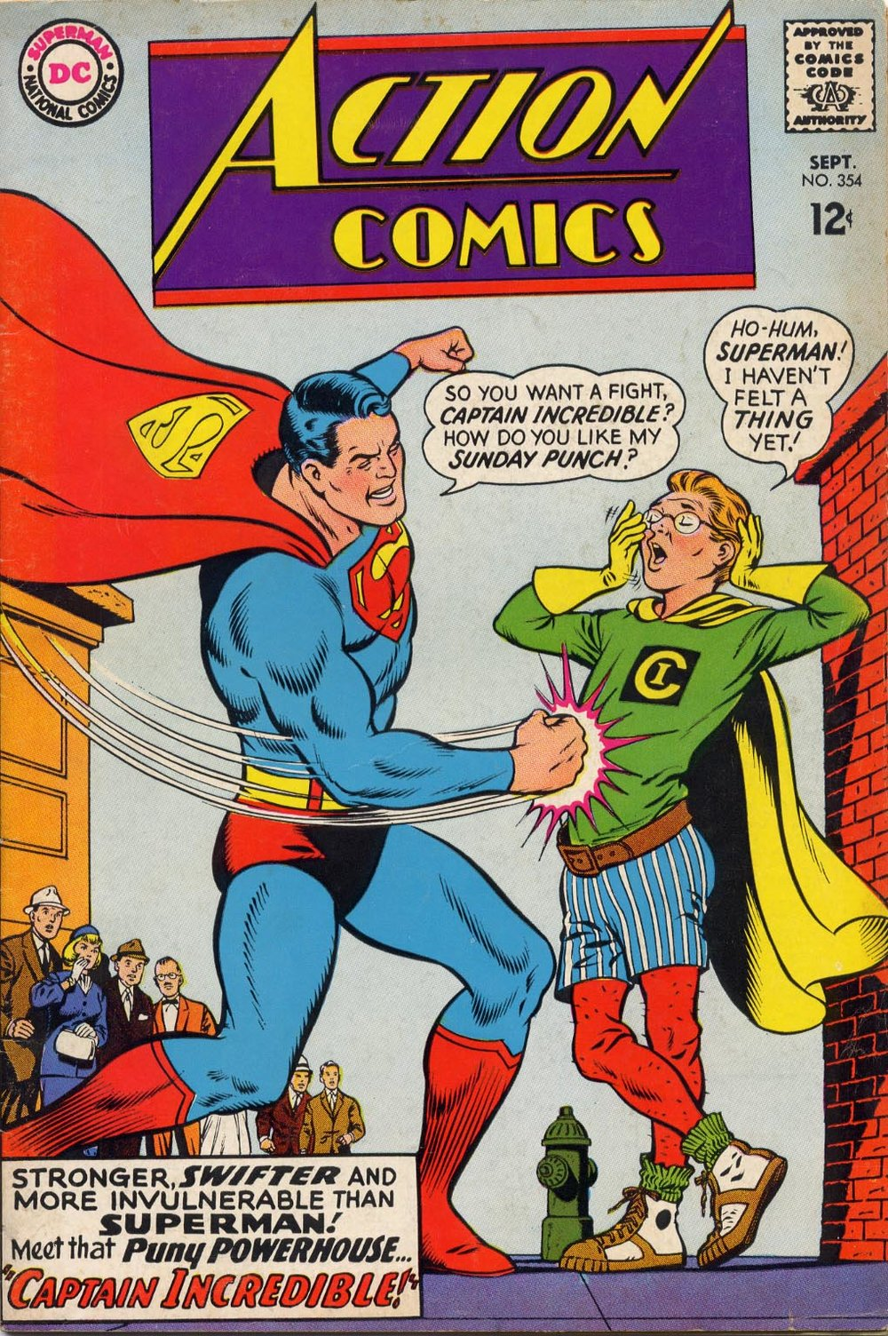 Action Comics (1938) #354, written by Cary Bates. Cover by Curt Swan.