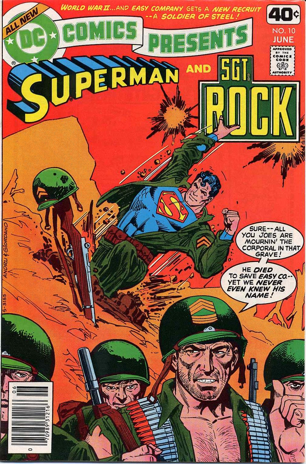 DC Comics Presents (1978) #10, written by Cary Bates. Cover by Ross Andru & Dick Giordano.