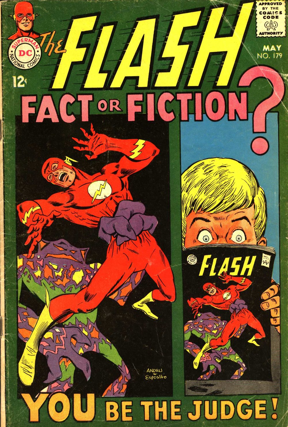 The Flash (1959) #179, written by Cary Bates. Cover by Ross Andru & Mike Esposito.
