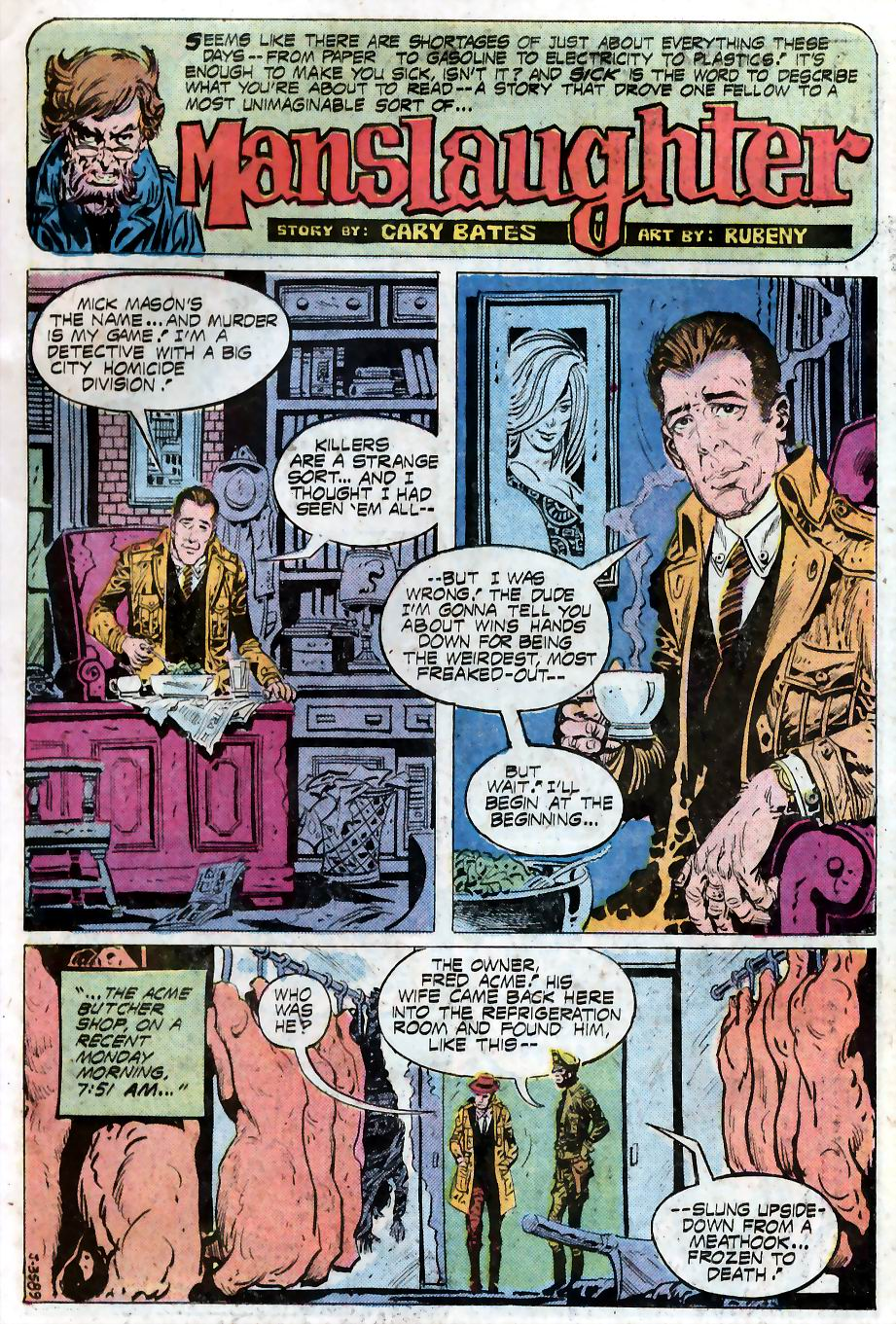House of Mystery (1951) #240 Pg.9, written by Cary Bates with art from Ruben Yandoc.