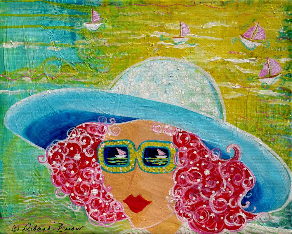 Girl In Sun Hat