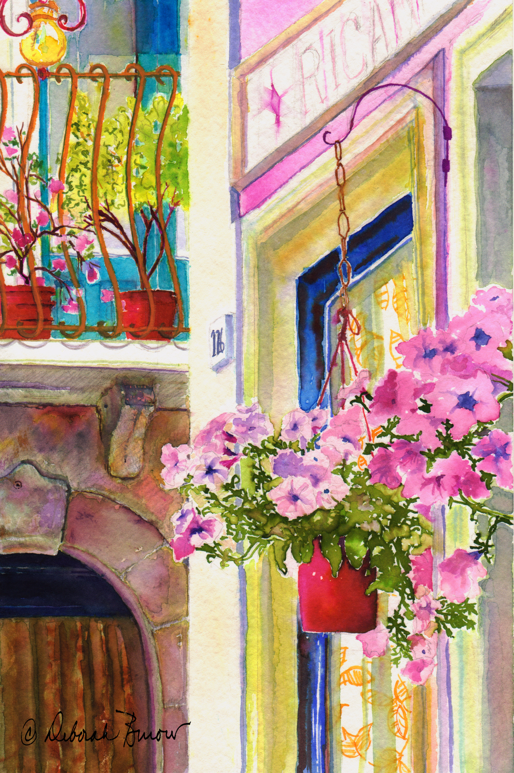 Taormina - Hanging Petunias