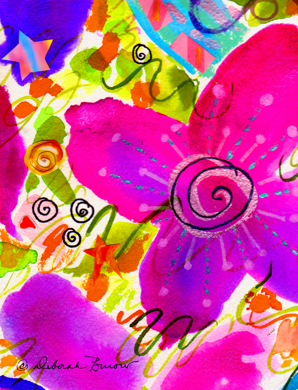 Flowers and Swirls and Stars