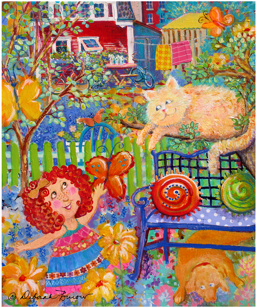 Storybook Girl and Cat