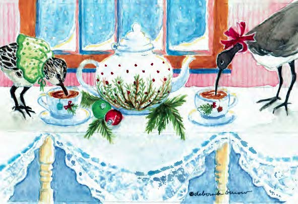 Pipers Sipping Christmas Tea