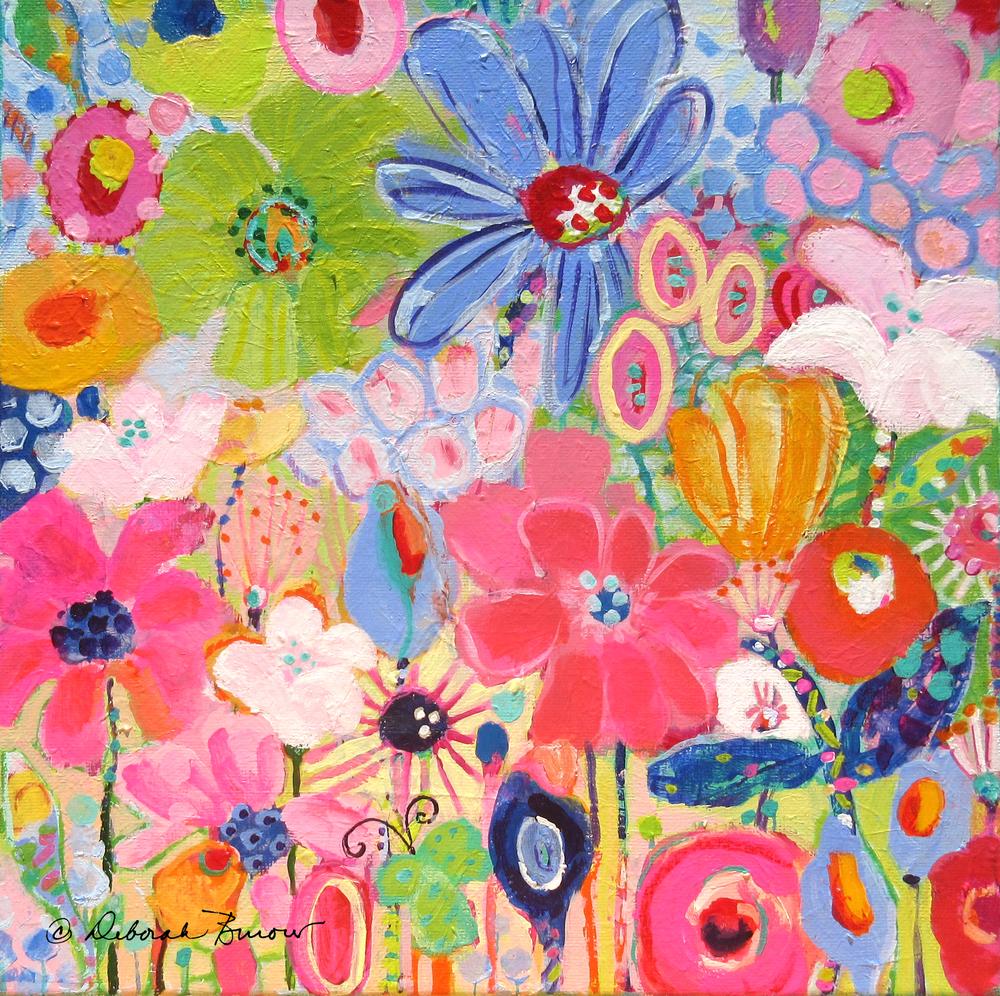Blue Daisy Flower Garden