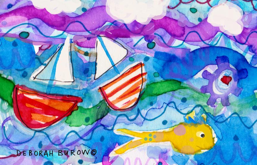 2 Boats and Yellow Fish