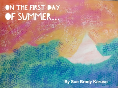 Sue created this delightful background and it will make a perfect cover for the story she has written. Can't wait to see what she will do for the rest of the pages in her book.