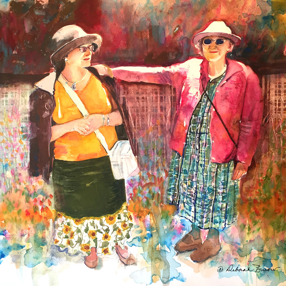 "TWO LADIES HEADING OUT ON THE ROAD LESS TRAVELED -- ""Travelers"""