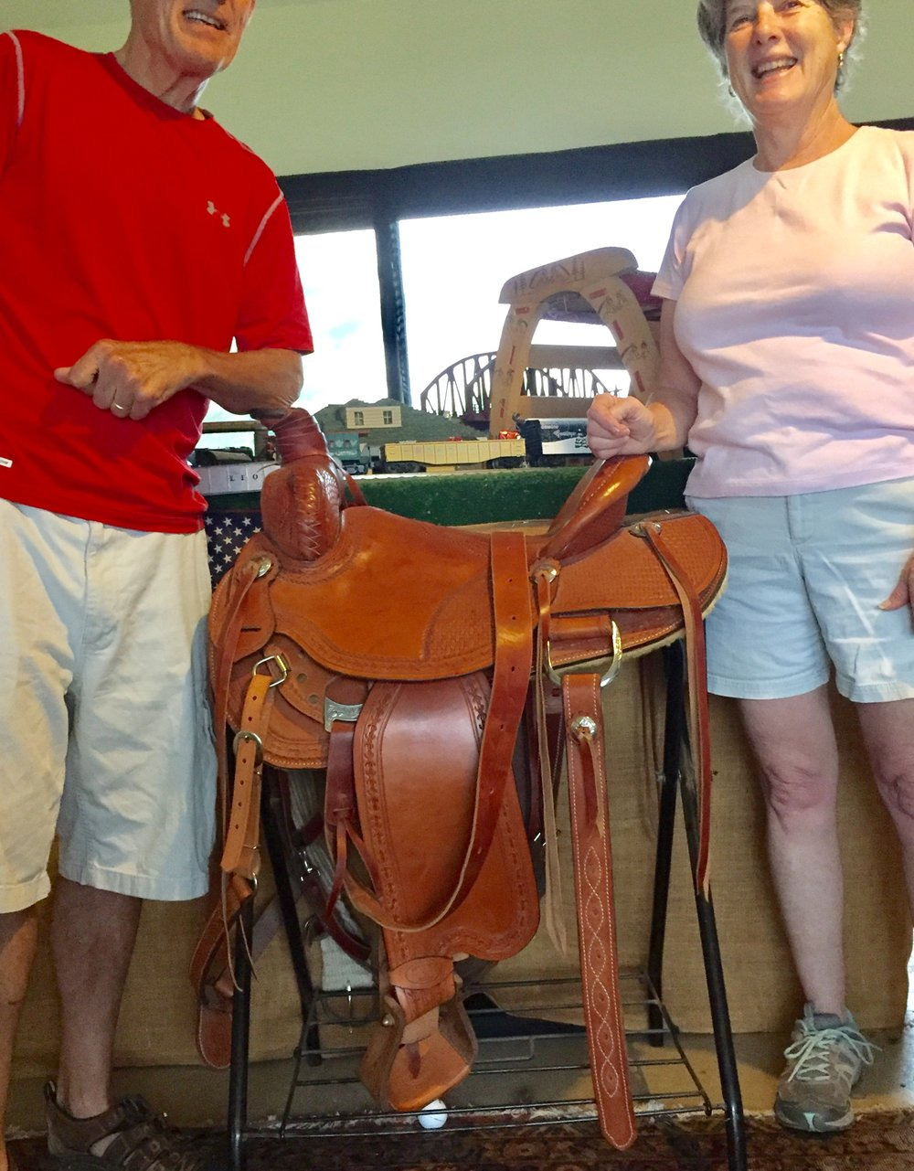 Roger's latest saddle build.