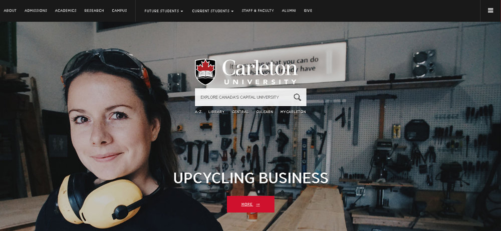 Featured in Carleton University stories and on their homepage   www.carleton.ca   Click   HERE   for the full write up!
