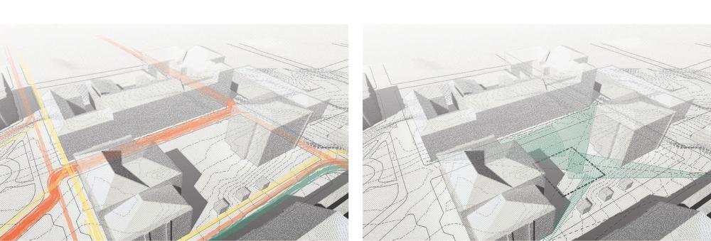 Circulation & Views Towards Site