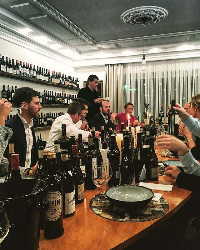 Dinner time here in Belgium 🇧🇪 thanks to @start2taste. Always a pleasure coming every year. . . . . #food #fun #travel #people #table #bottles #vino #winestagram #wine #winelover #adventure #france #vines #tasting #dutch #international #meeting #great #weekend