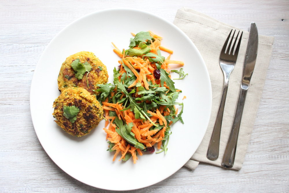 CHICKPEA &SWEET POTATO BURGERS
