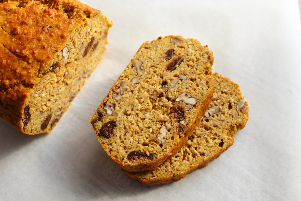 PUMPKIN LOAF WITH PECANS & CHAI SOAKED PRUNES