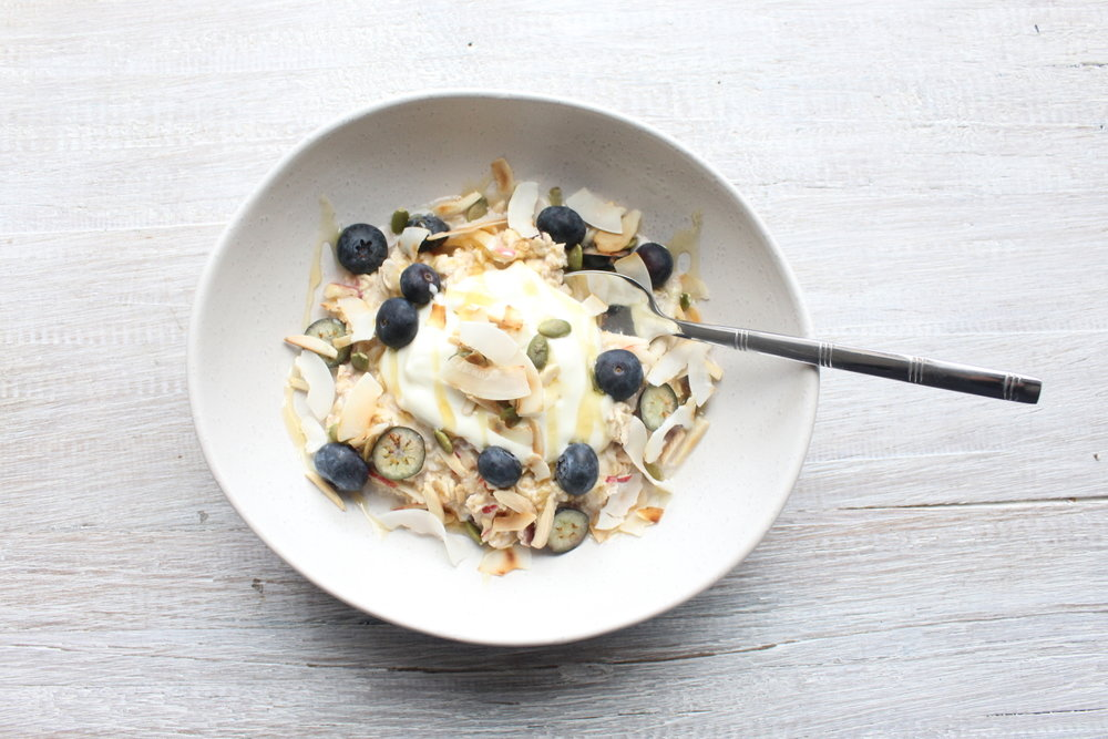 APPLE & COCONUT BIRCHER MUESLI