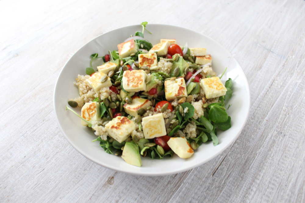HALOUMI AND BROAD BEAN SALAD