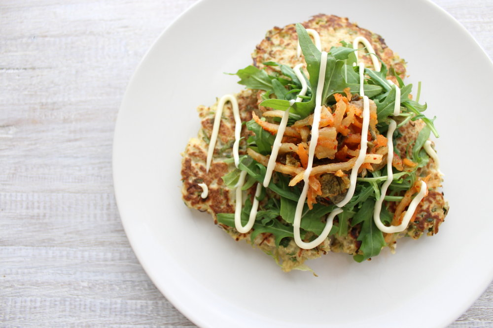 CABBAGE & TOFU FRITTERS
