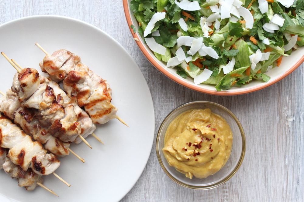 SATAY CHICKEN & COCONUT SALAD