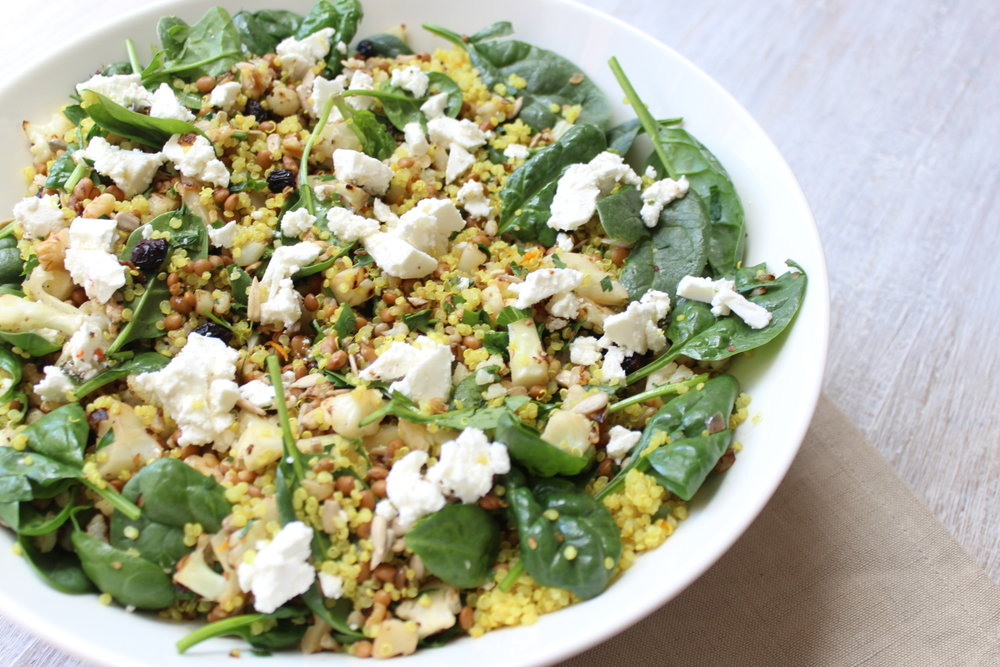 TOASTED CAULIFLOWER AND QUINOA SALAD