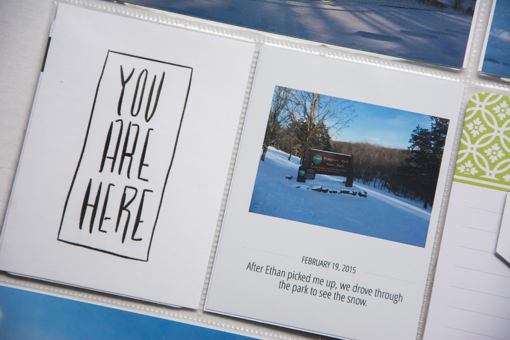 Simple, Easy 12x12 Project Life Inspiration | Featuring Here and There No.2 by Big City Quiet