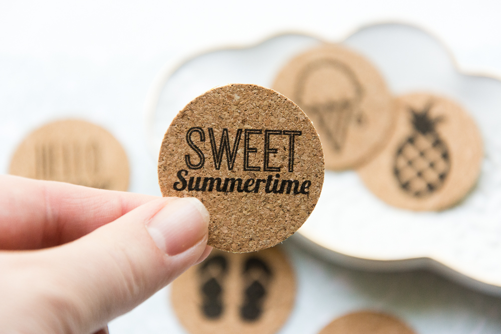 Sweet Summertime, a summer themed collection of cork, adhesive stickers from the Shoppe at Turquoise Avenue.  Perfect for Project Life scrapbooks, card making, and paper crafts!