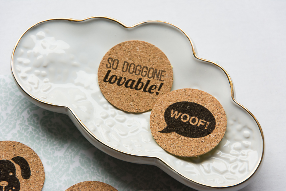 Puppy Love, a dog themed cork sticker set from the Shoppe at Turquoise Avenue on Etsy.  These cute adhesives lay flat and are great for Project Life, pocket scrapbook pages, cards, and other paper crafts!