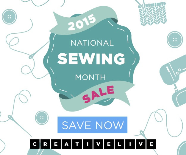 Celebrate National Sewing Month with 30% Off at CreativeLive