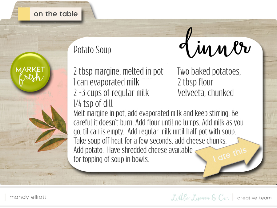 the BEST Potato Soup - Delicious, Fall 4x6 Digital Recipe Cards - Great Idea for iPad Kitchen Recipes via Turquoise Avenue