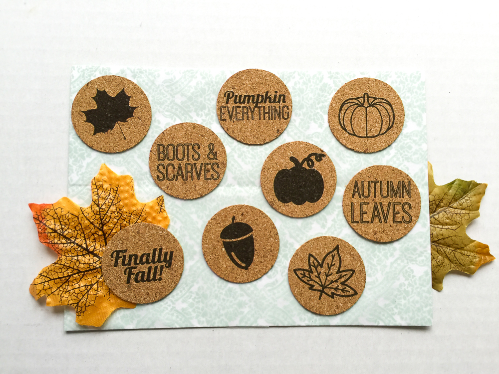Fall theme, cork stickers perfect for scrapbooking, Project Life, paper crafts, and cards! Available in the Etsy Shoppe at Turquoise Avenue!
