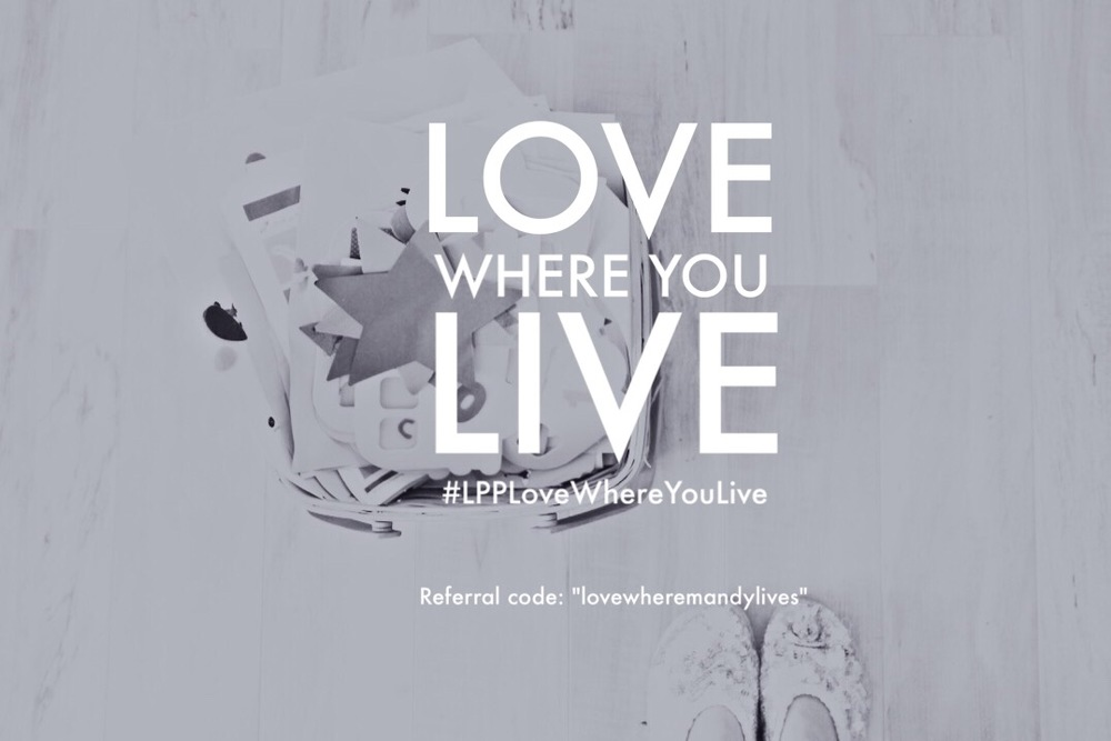 "Register for the Love Where You Live class from LittlePaperProjects.com. Use code ""lovewhereMandylives"" at signup."