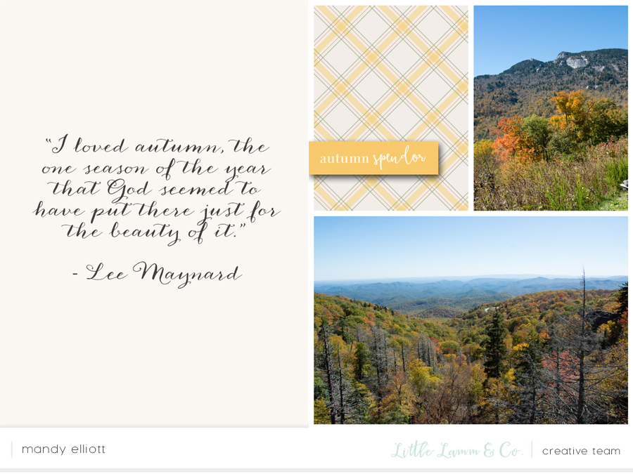 6x8 Digital Project Life Layout feat. Maplewood, a fall collection by Little Lamm & Co.