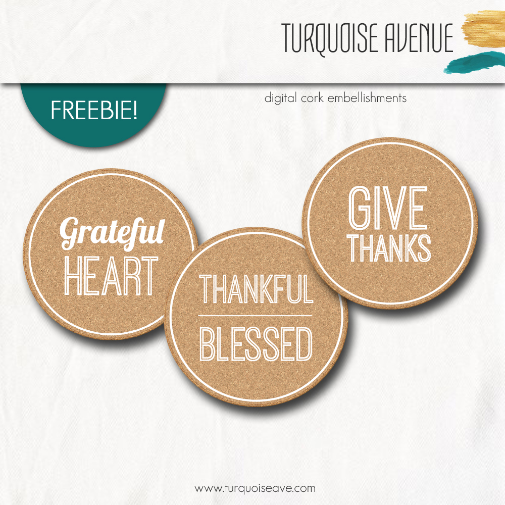 Thankful Freebie! Free Digital Download from Turquoise Avenue - digital scrapbooking and Project Life - #thankful30