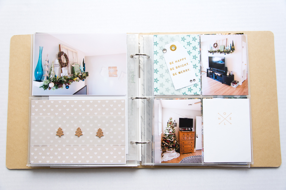 2015 December Daily® | A 6x8 Pocket Page Holiday pocket page scrapbook by Turquoise Avenue. Visit the post for a link to all products used! Noel Journal Card by One Little Bird and cork stickers by Turquoise Avenue