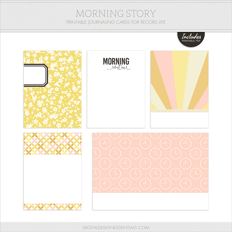Free Journal Cards from Digital Design Essentials!