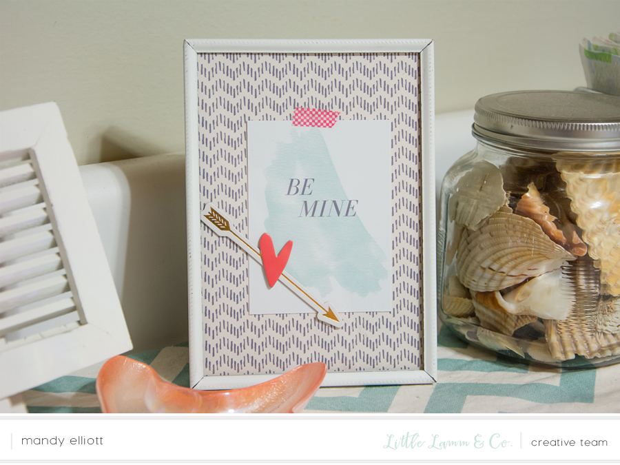 Using Digital Scrapbooking Products for Instant Home Decor | Valentine's Day DIY Craft