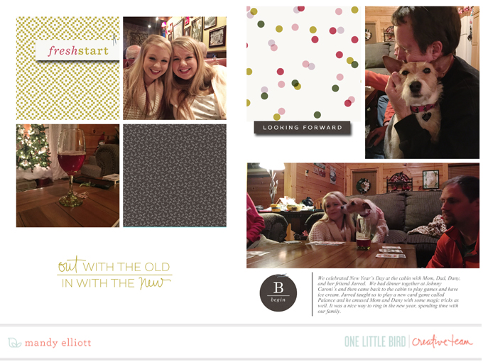 6x8 Digital Project Life page using Thrive by One Little Bird