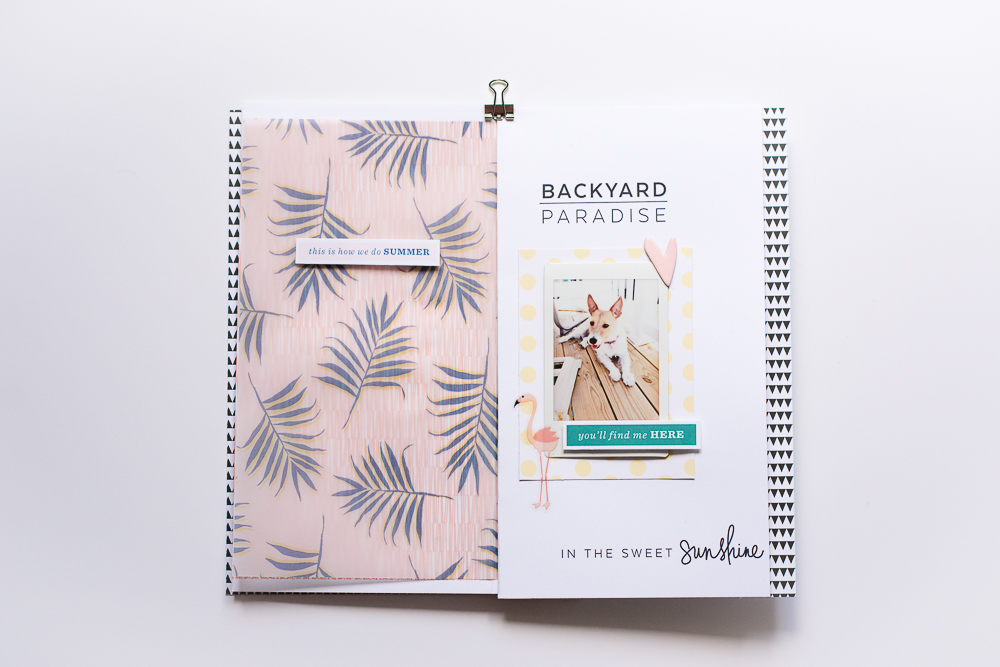 #LittleSummerJoy 2016 | A DIY Mini Album Created by Mandy Elliott of Turquoise Avenue, Celebrating Summer (via LittlePaperProjects.com) featuring Soleil by One Little Bird Designs.