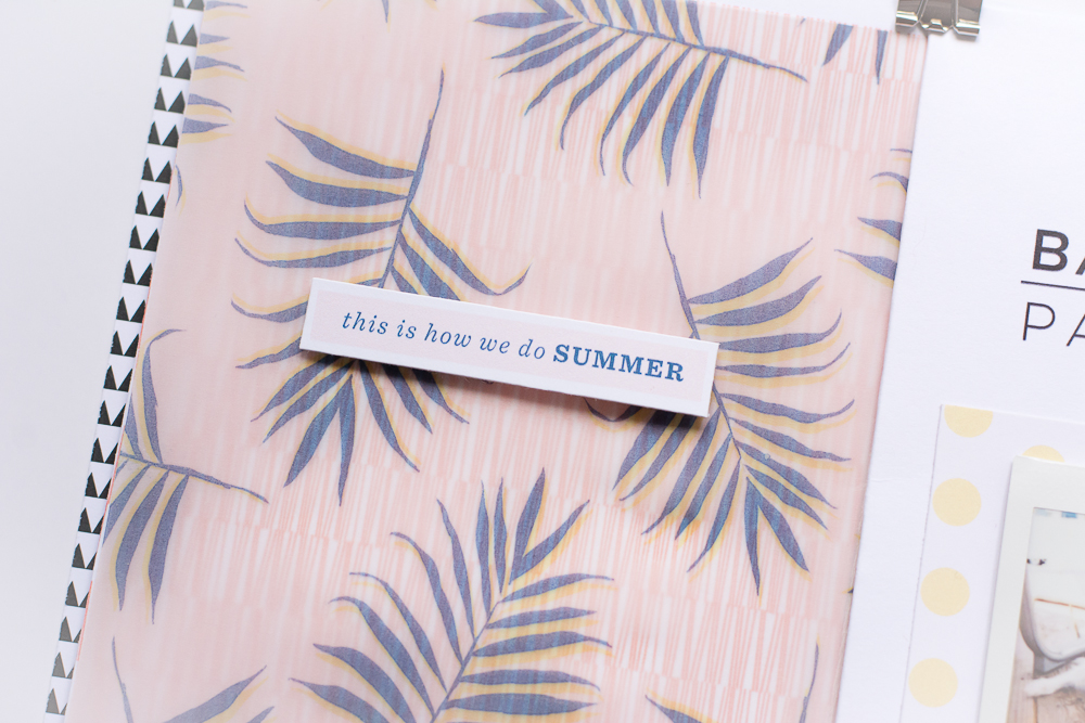 #LittleSummerJoy 2016 | A DIY Mini Album Celebrating Summer (via LittlePaperProjects.com), created by Mandy Elliott of Turquoise Avenue featuring designs by One Little Bird.