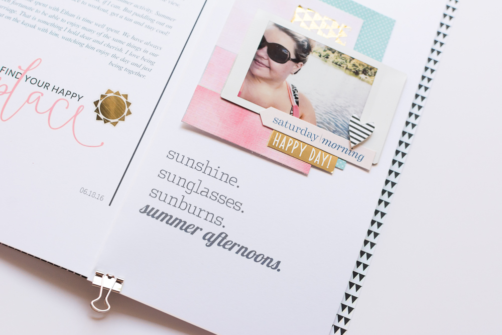#LittleSummerJoy 2016 | A DIY Mini Album by Mandy Elliott, Turquoise Avenue Celebrating Summer (via LittlePaperProjects.com)