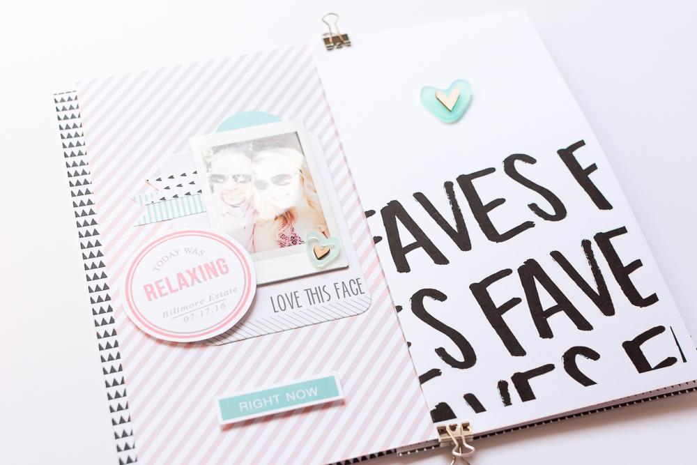 #LittleSummerJoy 2016 | A DIY Mini Album by Mandy Elliott, Turquoise Avenue Celebrating Summer (via LittlePaperProjects.com) featuring designs by Paislee Press.